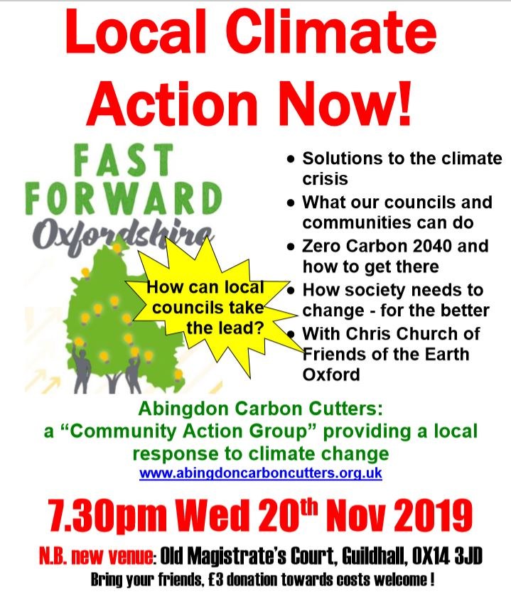 Local Climate Action Now! @ Old Magistrate's Court