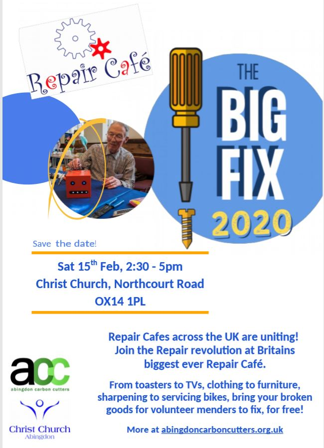 The Big Fix - Repair Cafe Plus! @ Christ Church Hall