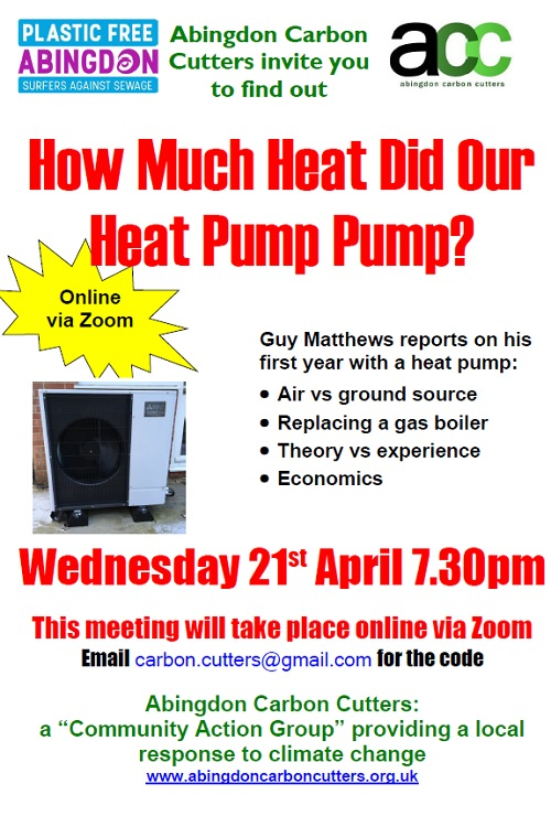 Air-Source Heat Pump - Our Experience, by Guy Matthews @ Zoom - Online