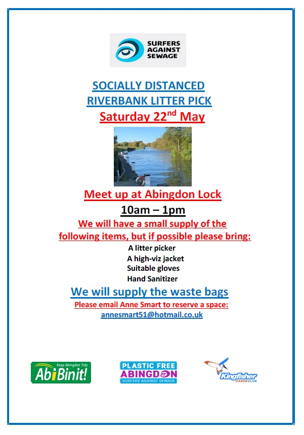 Riverbank Litter Pick @ Abingdon Lock