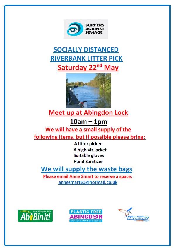 Riverbank Litter Pick @ Abingdon Lock