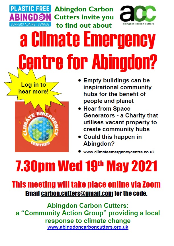 A Climate Emergency Centre for Abingdon? @ Zoom online meeting